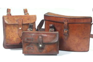 Vintage leather sandwich cases for sale