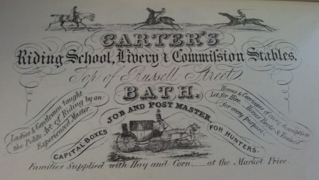 Advert for Victorian Riding School