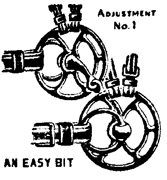 Drawing of Beery bit in use