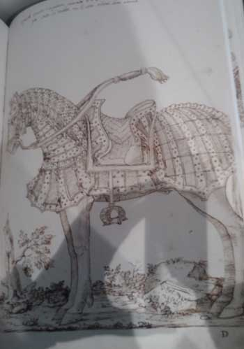 Illustration from Orsoni's book of parade armour