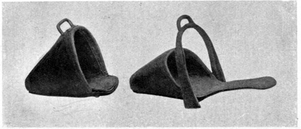 Illustration of slipper stirrups