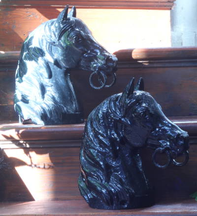 Victorian horse head tethering posts