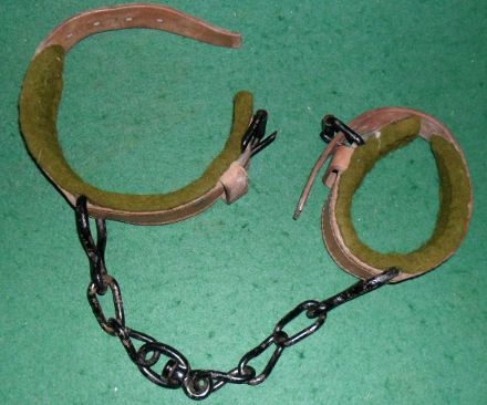 Vintage horse hobbles by Moss Bros