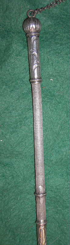 Silver whip handle