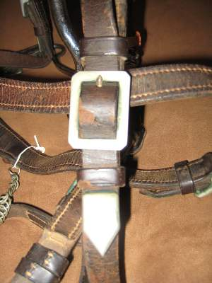 Detail of German military bridle