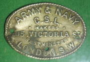 Army &amp; Navy Company Stores Limited saddle badge