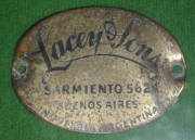 Saddle label from Argentina