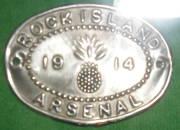 Saddle badge from Rock Island Arsenal