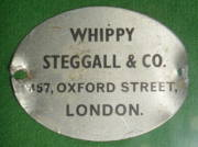 Vintage saddle label