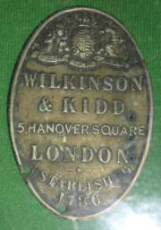 Label from saddle by Wilkinson & Kidd