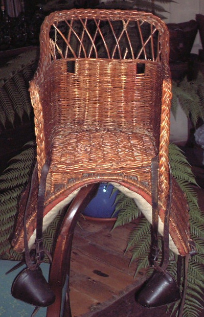 Antique Child S Basket Saddle