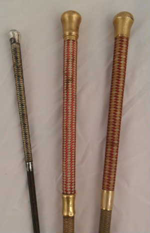 antique whips with silk handle