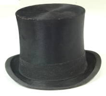 vintage hunting silk top hat for sale