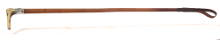 Antique hunting whip with fox collar for sale